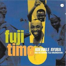 ADEWALE AYUBA Fuji Time CD NIGERIAN FUNK nine percussionists & three singers