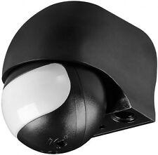infrarot bewegungsmelder ap aufputz 180° max 12m led geeignet ip44 schwarz neu