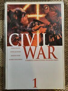 Marvel Civil War 1-7 + Opening Shot Complete Set 1st Prints Avengers Near Mint!