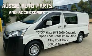 Toyota Hiace LWB 2020 ON Tradesman Style open Ends Alloy Roof Rack 3000mm