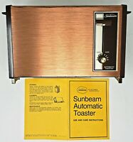 NEW Sunbeam Deluxe Automatic 2 Slice Antique Copper Toaster 20-26 Retro 1980's
