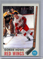 Custom made Topps 1969-70 Detroit Red wings Gordie Howe hockey card white