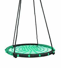 Childrens Kids Rope Outdoor Round Birds Crows Nest Spider Web Swing Seat 100cm