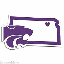 NCAA Kansas State Wildcats Home State Auto Car Window Vinyl Decal Sticker