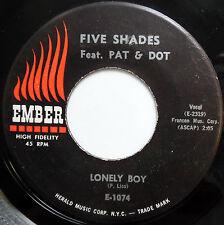FIVE SHADES w/ PAT & DOT 45 Lonely Boy / Mary Had A Little Man DOO WOP w2528