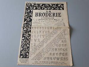 """Revue ancienne  """" la broderie Lyonnaise """" 1908  n° 233"""