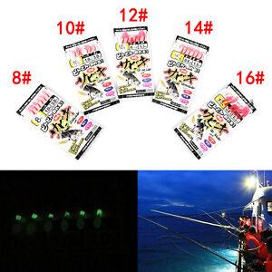 Sabiki Tackle Rigs Saltwater Sea Fishing Lures Trolling HookBait#8 10 12 14_HF