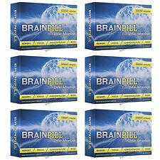 6 BRAINPILL Focus Supplement BOOST Memory Cognizin Synapse factor Brain Pill