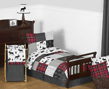 Sweet Jojo Woodland Plaid Arrow Grey Black Rustic Kids Boy Toddler Bedding Set