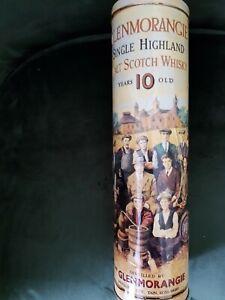 Glenmorangie Single Highland 10 Year Old Whisky Presentation Tin. (Empty Tube Ti
