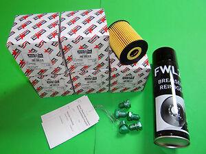 5x Ölfilter + Bremsenreiniger Skoda Roomster 5J 1.2 TDI (55kW/75PS)