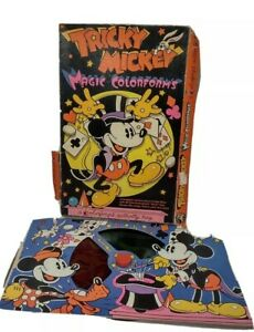 VINTAGE 70s TRICKY MICKEY MOUSE   MAGIC COLORFORMS - COLOR INCOMPLETE