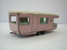 Diecast Lesney Matchbox Trailer Caravan No. 23 Pink Good Condition