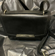 ~COLE HAAN~BLACK~TEXTURED LEATHER~REMOVABLE STRAP~PURSE
