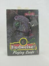 Vintage 1998 New Sealed Budweiser Beer Lizard Playing Cards Louie Anheuser-Busch