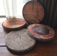 "15"" Fennco Styles 3D Wood Print Round Pillow Seat Cushion, 4 Designs"