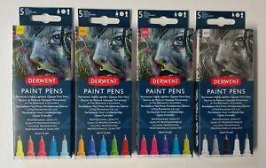 Derwent Graphik Paint Pen Wallet of 5 Colours Sets #1, #2, #3 or #4