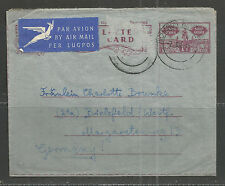 Union of South Africa Letter Card 07.07.58 Richards Bay-Bielefeld Marke abgef.