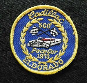 RARE 1973 CADILLAC ELDORADO INDIANAPOLIS 500 PACE CAR CLOTH PATCH MOTOR SPEEDWAY