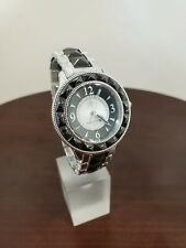Judith Ripka 38mm Black-Silver Ceramic-Stainless Steel Womens Watch