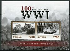More details for guyana 2014 mnh wwi ww1 world war i 100th anniv tanks 2v s/s military stamps