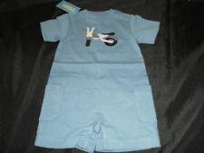NWT Gymboree Baby Boys 3 6 STUNT MAN Motorcycle Romper Shorts Bodysuit Top Shirt