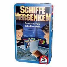 Schmidt Spiele Schiffe versenken, Bring-Mich-Mit-Spiel in Metalldose, Brettspiel