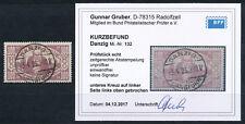 Danzig 100 Mark Rentnerhilfe 1923 Plattenfehler Michel 132 Befund (S14916)
