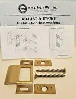 Locksmith Lot of 15 MAG Adjust-A-Strike- Adjustable T- Strike NOS