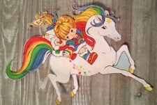 "15"" Rainbow brite starlight horse vintage fabric applique iron on character"