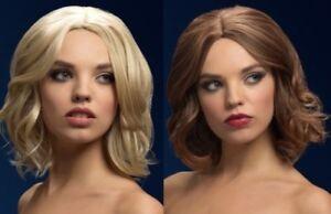 Olivia Fever Wig Ladies Deluxe Heat Resistant Fancy Dress Bob Wig Blonde Or Brow