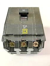 Square D 30 Amp 3 pole 240v, Type QOB Bolt on Circuit Breaker