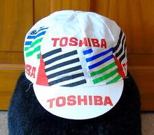 GOOD CONDITION VINTAGE 1990 TOSHIBA PRO TEAM COTTON CAP MADE BY SANTINI