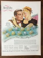 Original 1947 Magazine Print Ad KEEPSAKE DIAMOND RINGS Vintage Fashion