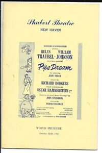 """Rodgers & Hammerstein   """"Pipe Dream""""   TRYOUT  Playbill  1955  New Haven  FLOP"""