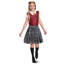 New Girls Harry Potter Gryffindor Halloween Costume Uniform Dress Size S 4-6 Nwt