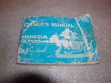 Honda GL 1100 Gold Wing Bedienungsanleitung owner's manual