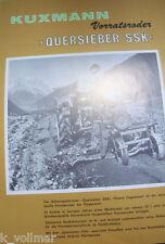 ✪altes Antik Original Landmaschine PROSPEKT Kuxmann Vorratsroder Quersieber SSK