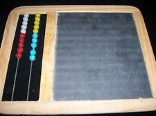 CHALKBOARD ABACUS WOOD FRAME OLD SCHOOL SLATE MATH SCHOOL CHALK TEACH
