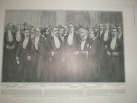 British Cotton Growers Association banquet at manchester 1904 old print