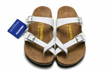 Birkenstock Mayari Birko-Flor Sandals Men's Women's Shoes White Size 37