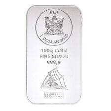 Münzbarren Fiji 100 Gramm Silber Argor Heraeus 999,9er Silberbarren 2015