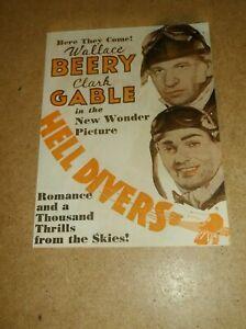 HELL DIVERS(1931)CLARK GABLE WALLACE BEERY ORIGINAL PRESSBOOK HERALD+