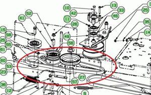 MTD LAWNFLITE 603LT 703LT GEARBOX DRIVE BELT