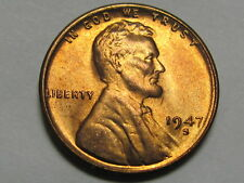 1947-S Lincoln Cent - RED GEM Uncirculated