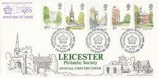 94492 FIN DE STOCKS GB Leicester Philatélique FDC LFDC1 Londres Repères 7 May