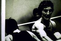 35mm B&W Slide- Portrait  The Boxer  - Kit Goninon 1982