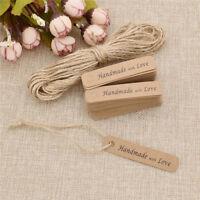 Schild Kraftpapier Kraft Tags Etikett Hochzeit DIY Geschenk Deko Handwerk 100stk