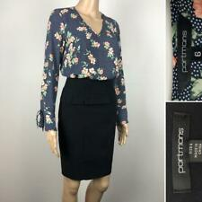 ** PORTMANS ** Sz 6 Pack - Black Peplum Pencil Skirt & Floral Top - Corporate
