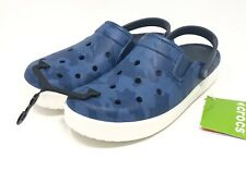 Mens Crocs Citilane Topographical Clogs Size 11 Bijou Blue/White NEW WITH TAGS